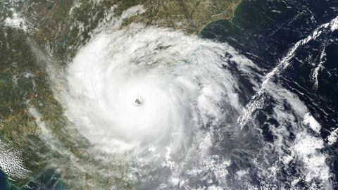 Hurricane USA East Coast Satellite Design 02 Stock Video Footage
