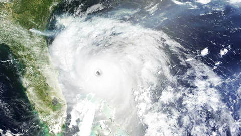 Hurricane USA Florida Satellite Design 02 Stock Video Footage