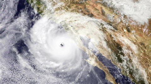 Hurricane USA West Coast Satellite Design 02 Stock Video Footage