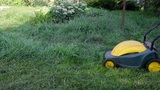 A man mows the grass Footage