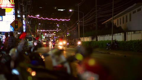 City lights Stock Video Footage