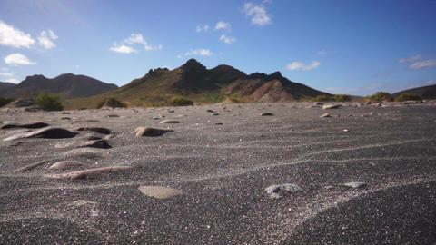 Black Sand Wind Erosion Stock Video Footage