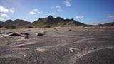 Black Sand Wind Erosion Footage