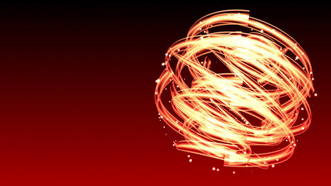 Light Streaks Circle - Abstract Background 67 (HD) Stock Video Footage