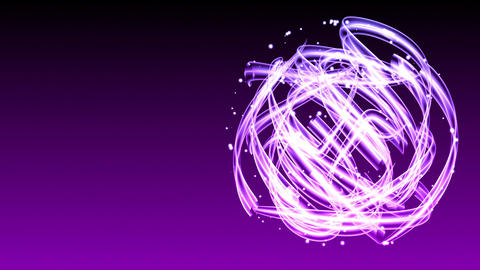 Light Streaks Circle - Abstract Background 69 (HD) Stock Video Footage