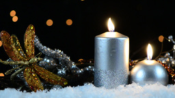 Christmas candles Stock Video Footage