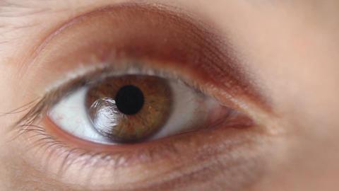 Eye Blinks Macro Footage