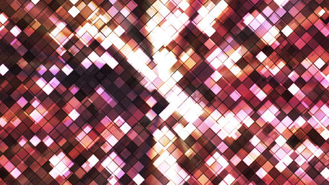 Broadcast Twinkling Squared Diamonds, Multi Color, Abstract, Loopable, HD Animation