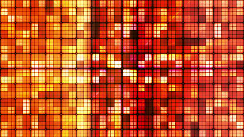 Broadcast Twinkling Hi-Tech Cubes, Orange Red, Abstract, Loopable, HD Animation