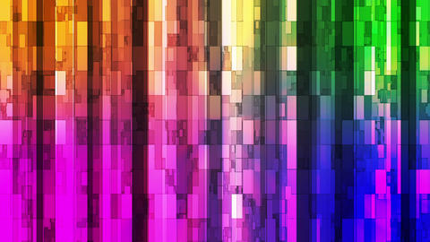 Broadcast Twinkling Vertical Hi-Tech Bars, Multi Color, Abstract, Loopable, HD Animation