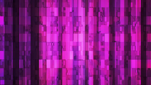 Broadcast Twinkling Vertical Hi-Tech Bars, Magenta Purple, Abstract, Loopable, Animation
