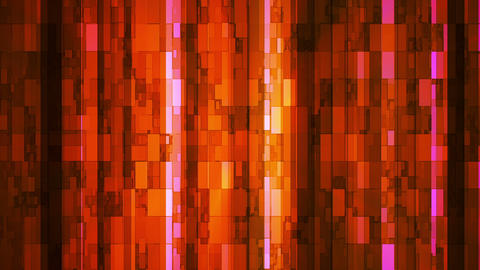 Broadcast Twinkling Vertical Hi-Tech Bars, Orange, Abstract, Loopable, HD Animation