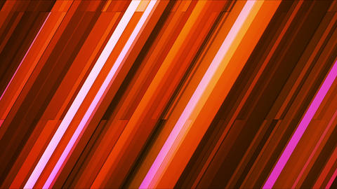 Broadcast Twinkling Slant Hi-Tech Bars, Orange Magenta, Abstract, Loopable, HD Animation