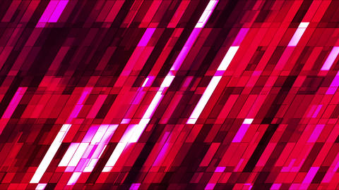 Broadcast Twinkling Slant Hi-Tech Small Bars, Red Magenta, Abstract, Loopable, HD Animation
