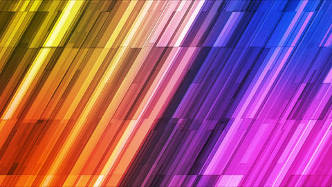 Broadcast Twinkling Slant Hi-Tech Bars, Multi Color, Abstract, Loopable, HD Animation