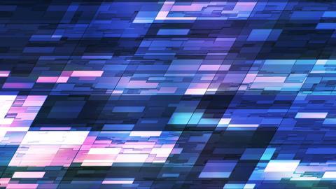 Twinkling Horizontal Slant Hi-Tech Small Bars, Blue, Abstract, Loopable, HD Animation