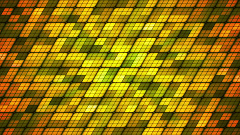 Broadcast Twinkling Slant Hi-Tech Cubes, Green Orange, Abstract, Loopable, HD Animation