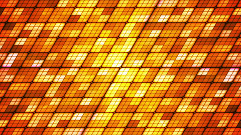 Broadcast Twinkling Slant Hi-Tech Cubes, Orange Golden, Abstract, Loopable, HD Animation