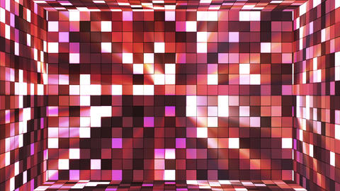 Broadcast Twinkling Hi-Tech Squares Room, Brown Magenta, Abstract, Loopable, HD Animation