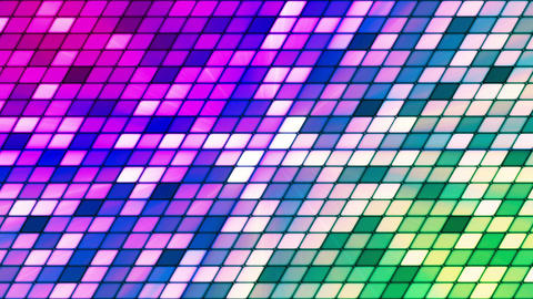 Broadcast Twinkling Slant Hi-Tech Cubes, Multi Color, Abstract, Loopable, HD Animation