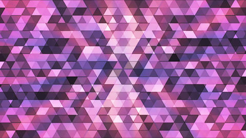 Broadcast Twinkling Polygon Hi-Tech Triangles, Purple, Abstract, Loopable, HD Animation