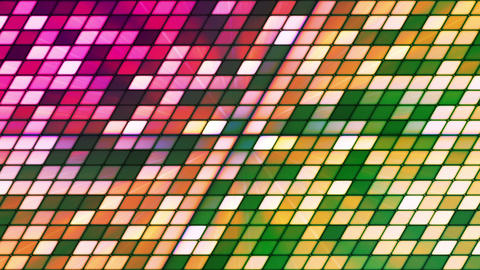 Broadcast Twinkling Slant Hi-Tech Cubes, Green Magenta, Abstract, Loopable, HD Animation
