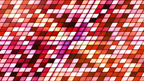 Broadcast Twinkling Slant Hi-Tech Cubes, Red Orange, Abstract, Loopable, HD Animation