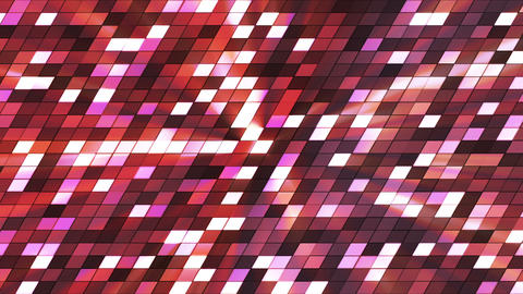 Broadcast Twinkling Slant Hi-Tech Squares, Magenta Red, Abstract, Loopable, HD Animation