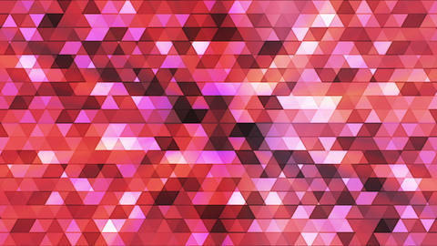 Broadcast Twinkling Polygon Hi-Tech Triangles, Magenta Pink, Abstract, Loopable, CG動画