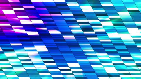 Twinkling Horizontal Slant Hi-Tech Small Bars, Blue Magenta, Abstract, Loopable, HD Animation