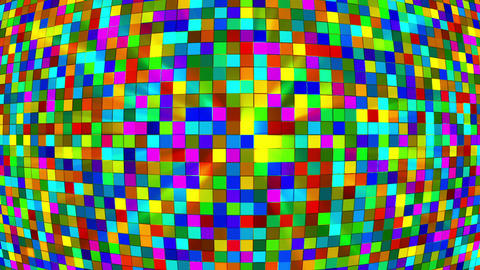 Broadcast Twinkling Hi-Tech Squares Globe, Multi Color, Abstract, Loopable, HD Animation