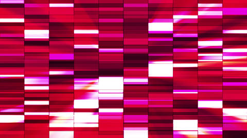 Twinkling Horizontal Small Squared Hi-Tech Bars, Red Magenta, Abstract, Animation