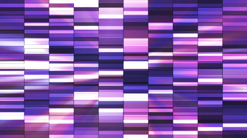 Twinkling Horizontal Small Squared Hi-Tech Bars, Purple Magenta, Abstract, Animation