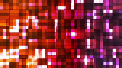 Broadcast Twinkling Squared Hi-Tech Blocks, Multi Color, Abstract, Loopable, HD Animation