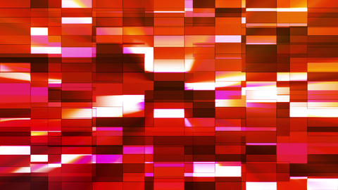 Twinkling Horizontal Small Squared Hi-Tech Bars, Red Orange, Abstract, Loopable, Animation