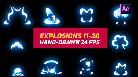 Liquid Elements Explosions 11-20 After Effects Template