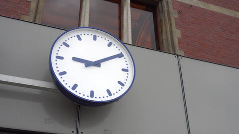 Clock Hanging at the Wall Footage