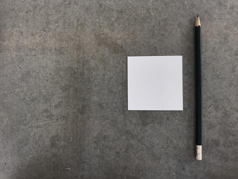 "one pencil and one paper, ""getting idea"" concept Foto"