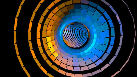 4K UHD VJ Colorful Flashing Light Wormhole Tunnel Animation