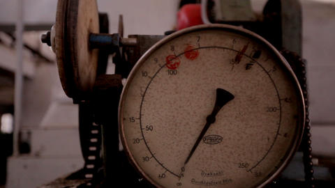 machinery pressure gauge at the furniture factory Footage