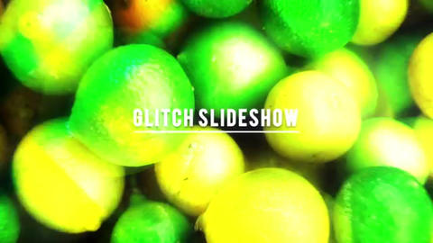 Glitch Dub Step Pop Slideshow After Effects Template