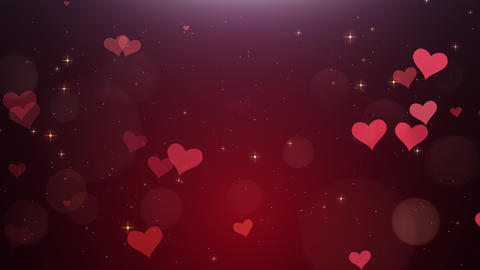 Romantic background of Red heartsа Animation