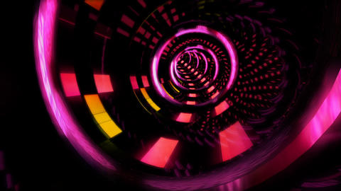Looped seamless light tunnel for event, concert,... Stock Video Footage