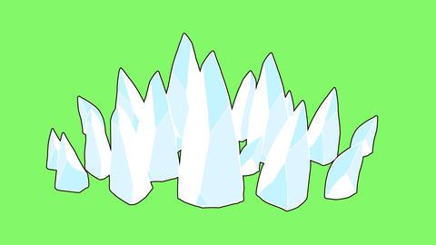 氷柱のエフェクトGB CG動画素材