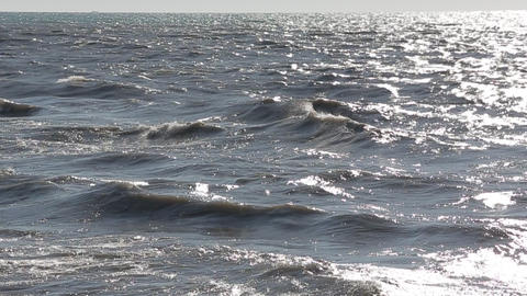 The sea is wild and dirty 5 Stock Video Footage