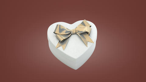 Loopable spin of heart shaped gift box Animación
