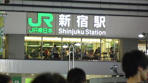 Japan Tokyo Shinjuku Station South-east side October 2017 ビデオ