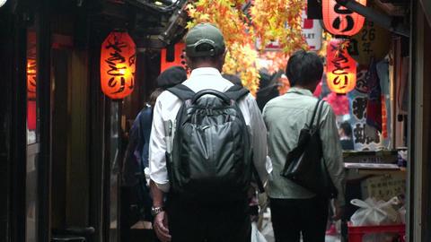 Japan Tokyo Shinjuku Omoide-yokocho October 2017 ビデオ