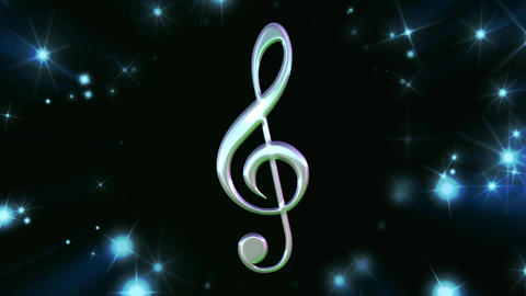 Music Note in Tunnel of Stars Animation