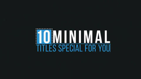 Simple Titles After Effects Template
